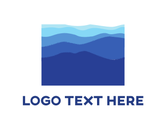 Hike - Blue Landscape logo design
