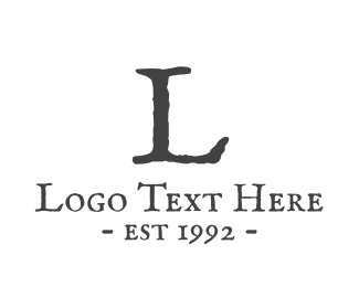 Antique - Traditional Lettermark logo design