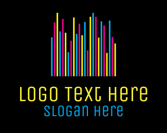 Entertainment Industry - Colorful Neon Bars logo design