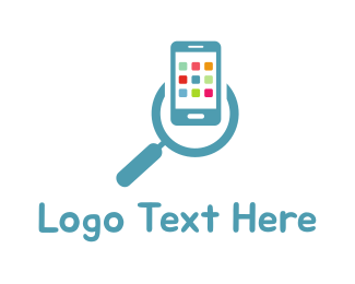Magnifying Glass - App Search logo design