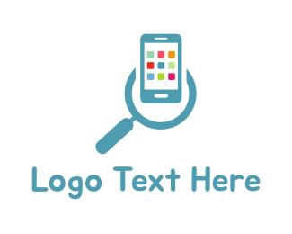 Iphone - App Search logo design