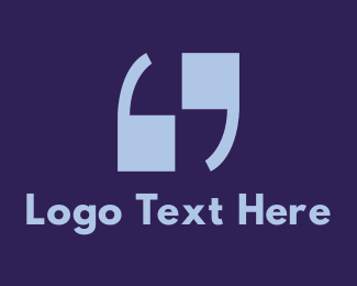 Punctuation - 69 Quotation logo design