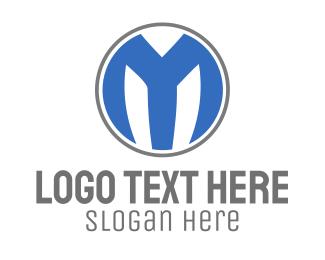 Business Consulting - Blue M Circle logo design