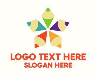 Kindergarten - Colorful Art Star logo design