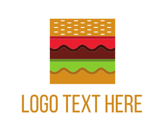 Cheese - Square Burger logo design