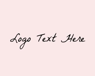 Handwriting -  Vintage Handwriting logo design