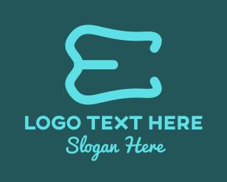 Letter E - Tooth Letter E logo design