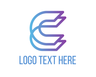 Text - Purple Letter C logo design