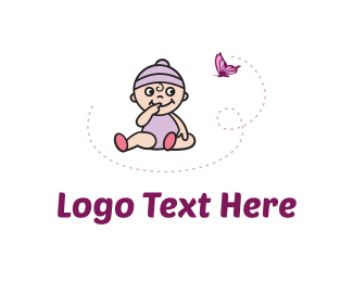 Doll - Purple Baby logo design