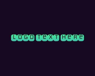 Typewriter - Blue Typeface logo design