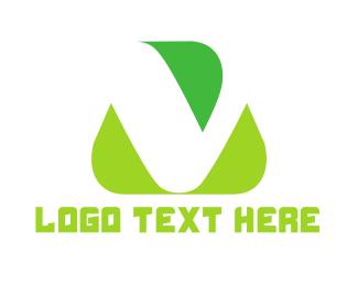 Vegetarian - Organic Letter V logo design