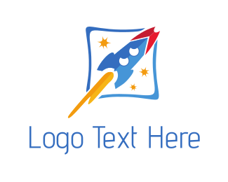 Spacecraft - Rocket Ship logo design