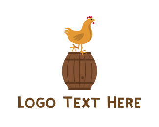 Hen - Chicken & Barrel logo design