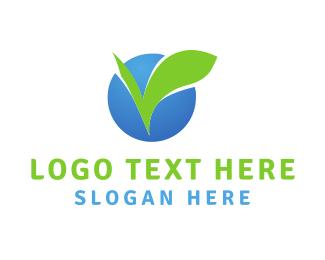 Chewing Gum - Leaf Circle logo design