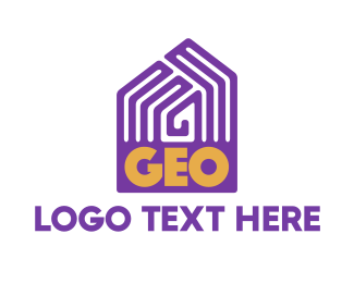 """""""Violet Geo Pattern House"""" by town"""