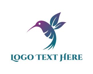 Hummingbird - Floral Hummingbird logo design