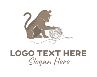 Kitten - Little Cat logo design