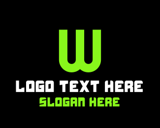 Web Development - Green Tech Letter W logo design