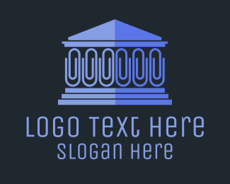 Justice - Blue Clip House logo design