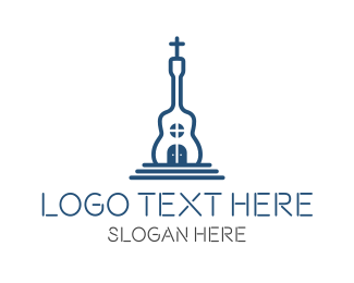 Crucifix - Church Music logo design