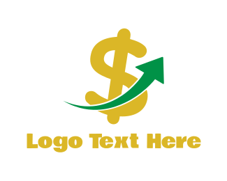 Lure - Dollar Arrow logo design