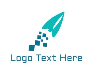 Arcade - Blue Rocket logo design