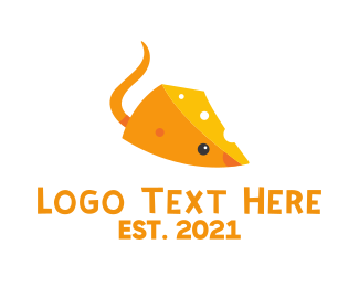 Rodent - Cheese Mouse logo design