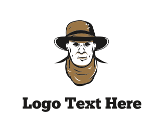 Men - Cowboy Face logo design