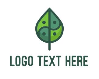 Relaxation - Asia Leaf logo design