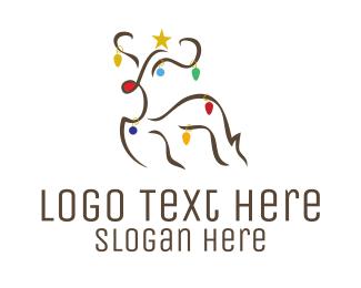 Xmas - Christmas Rudolf logo design