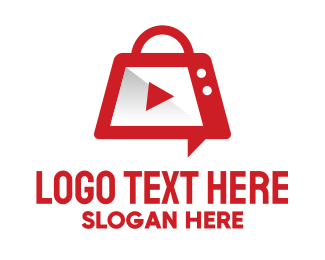 Youtube - Video Play Application  logo design