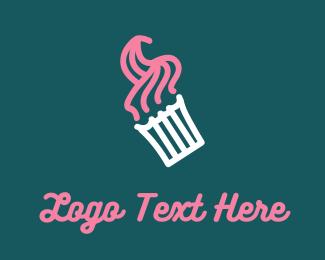 Sugar - Pink Cupcake logo design