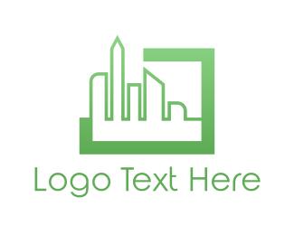 Frame - City Window logo design