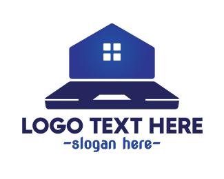 Land Developer - Laptop Housing  logo design