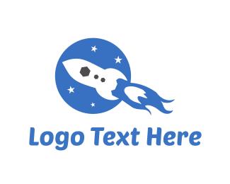 Missile - Fast Rocket logo design