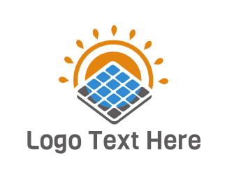 Solar Panel - Eco Solar Panel logo design