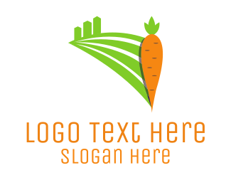 Farmer - Carrot Field logo design