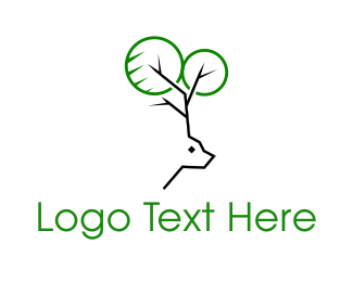 Reindeer - Deer Tree logo design