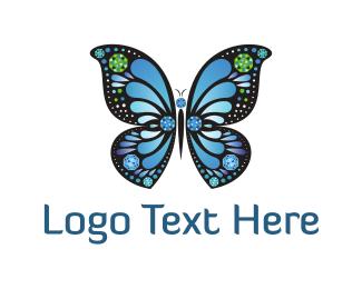 Delicate - Diamond Butterfly logo design