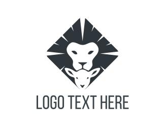 Sheep - Lion & Lamb  logo design