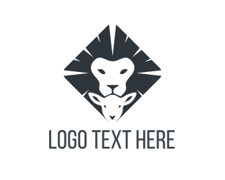 Lamb - Lion & Lamb  logo design