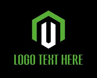 Screw - Industrial Letter U logo design