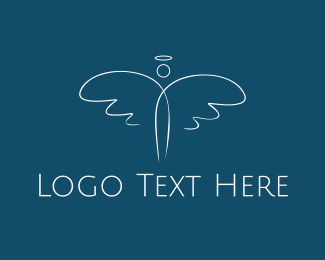 Holy - White Angel logo design