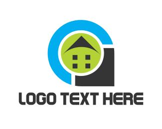 Locator - House Pin logo design