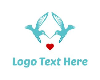Wedding Photographer - Bird Love logo design