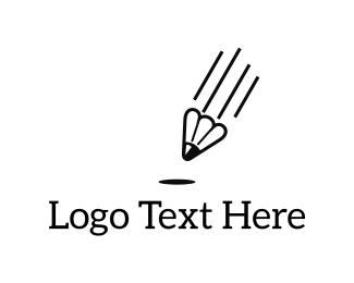Paragliding - Shuttlecock Pen logo design