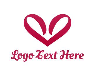 Bachelorette - Ribbon Heart  logo design