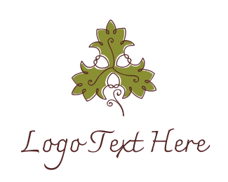 Olive - Fancy Maple Leaf logo design