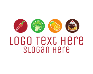 Lunch - Food Options logo design