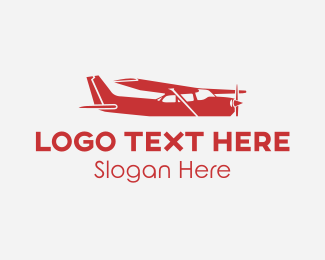 Aero - Small Black Plane logo design